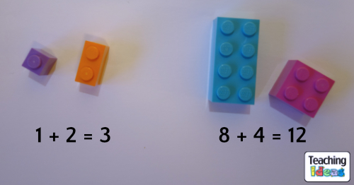 Addition using Lego bricks
