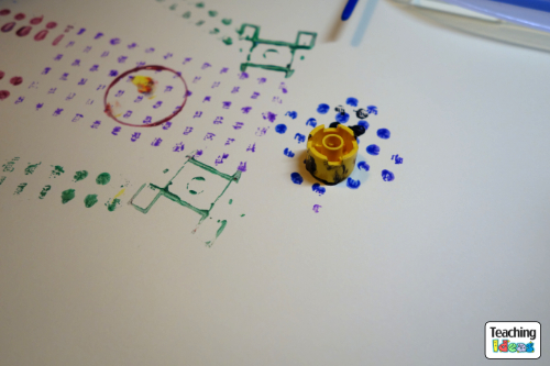 Printing with Lego - Robot Eyes