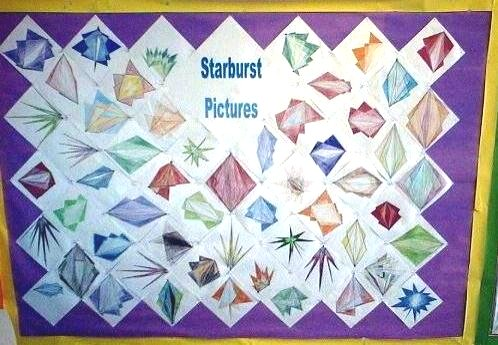 Drawing Lines Of Symmetry Worksheets Ks : Starburst pictures teaching ideas
