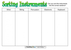 Sorting Instruments Activity