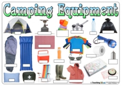 Camping Equipment Word Mat - Blank Labels