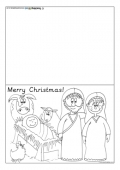 Christmas Card Template - Manger