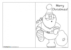 Christmas Card Template - Santa