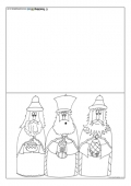 Christmas Card Template - The Three Kings