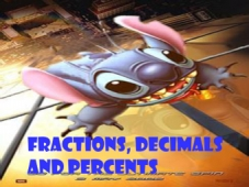 Converting Fractions, Decimals and Percentages