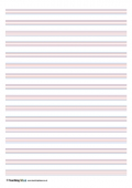 Coloured Handwriting Lines - Small