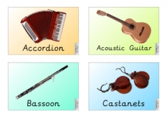 Musical Instruments (4 per page)