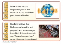 Islam Fact Cards