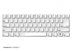 Keyboard templates teaching ideas for Blank keyboard template printable