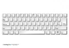 Keyboard - Blank Letters (UK)