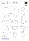 Area of 2D Shapes Worksheet - with answers by KeithEllingham ...