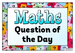 Maths Question of the Day Poster 1