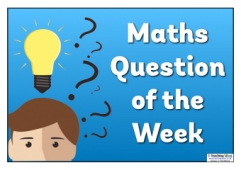 Maths Question of the Week Poster 3