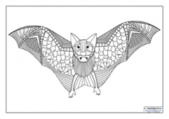 Mindfulness Colouring - Bat