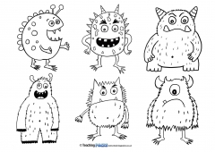Monsters (Six Per Page)