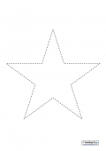 Paper Strip Christmas Star Template
