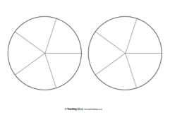 pie chart templates teaching ideas