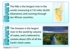 Rivers Fact Cards