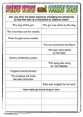 Passive and Active Voice Activity