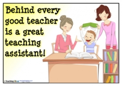 Behind every good teacher...