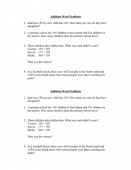 Addition Word Problems (Easier Version)
