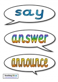Synonyms - Say (Present Tense)