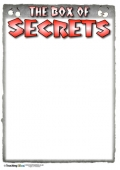 The Box of Secrets Recording Sheet - Black and Red