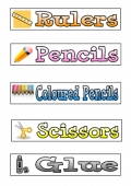 Tray Labels - Classroom Equipment 1