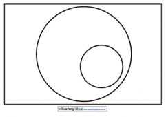 Venn Diagram Template (with 1 subset)