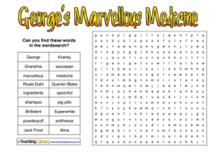 George's Marvellous Medicine Wordsearch