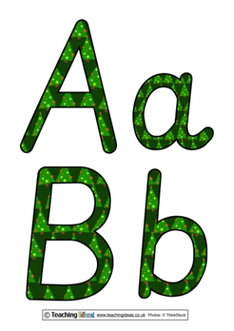 Christmas Trees Display Letters