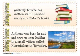 Anthony Browne Fact Cards