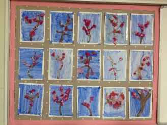 Tissue Paper Blossom Display