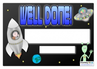 Space Well Done Certificate