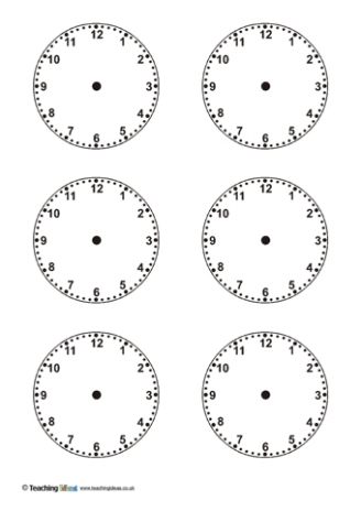 image regarding Free Printable Clock Template identify clock template free of charge -