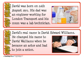 David Walliams Fact Cards