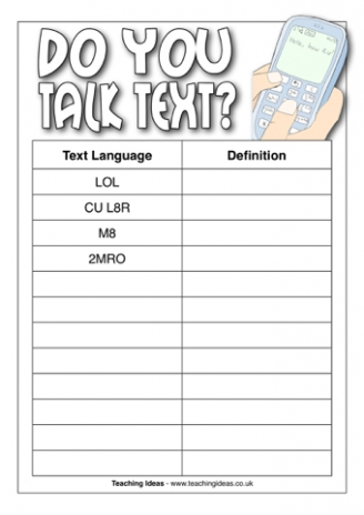 Do You Talk Text?