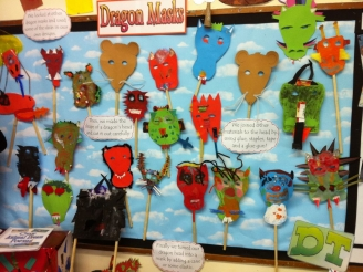 Dragon Masks Display