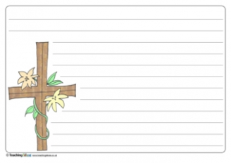 Easter Cross Writing Template