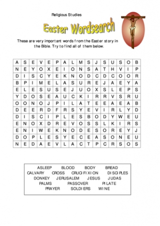Easter Wordsearch