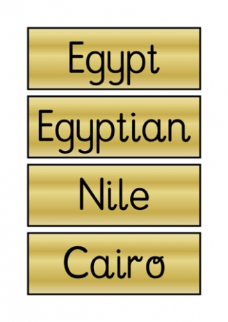 Egypt Flashcards