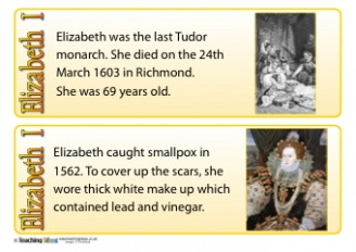 Elizabeth I Fact Cards