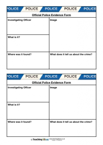 Police Evidence Forms