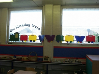 Birthday Train Display