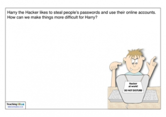Harry the Hacker Password Activity