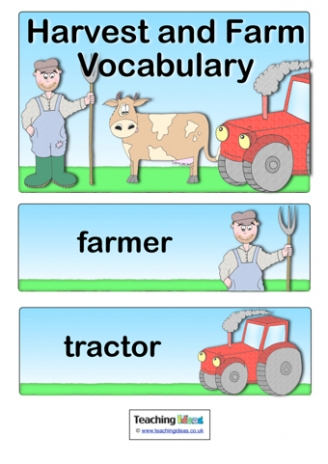 Harvest and Farm Vocabulary