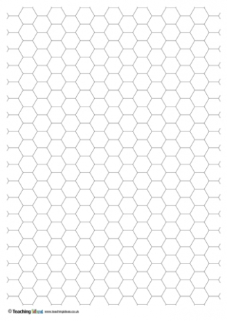 Invaluable image in printable hexagon grid