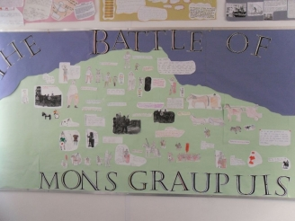 The Battle of Mons Graupuis Display