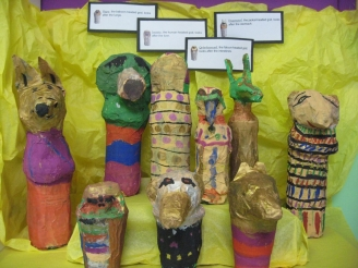 Canopic Jars Display