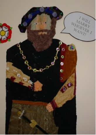 Henry VIII Collage Display